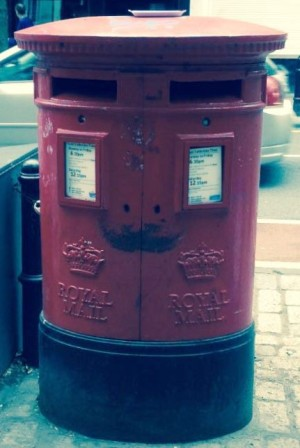 Scottish crown post box