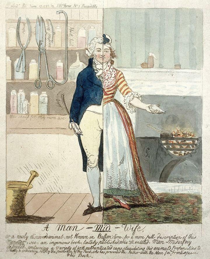 Cartoon;_'A_Man-Mid-wife'._Wellcome_L0011731