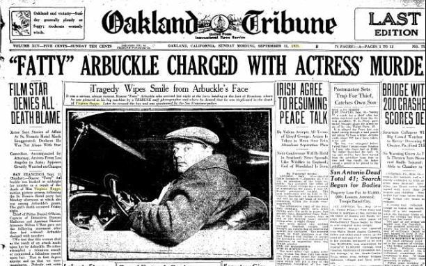 Fatty Arbuckle: Hollywood's First Sex Scandal – HistorianRuby: An  Historian's Miscellany