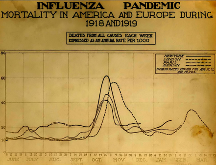 Spanish_flu_death_chart mortality from 1918 US and Europe