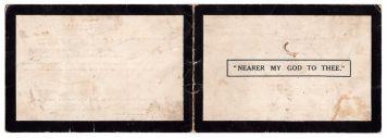 Wallace Hartley Memoriam Card 2