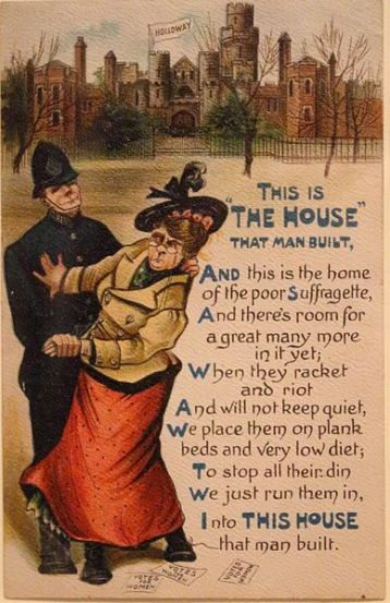 Anti suffrage postcard c.1908