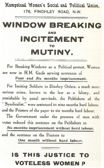 A Suffragette Handbill