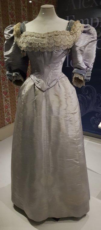 Lilac silk Morin Blossier c.1893