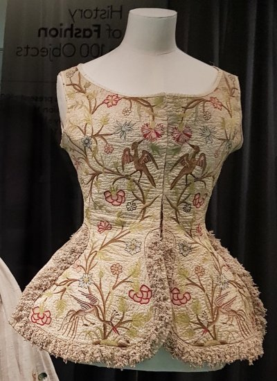 Embroidered woman's waistcoat 1700s