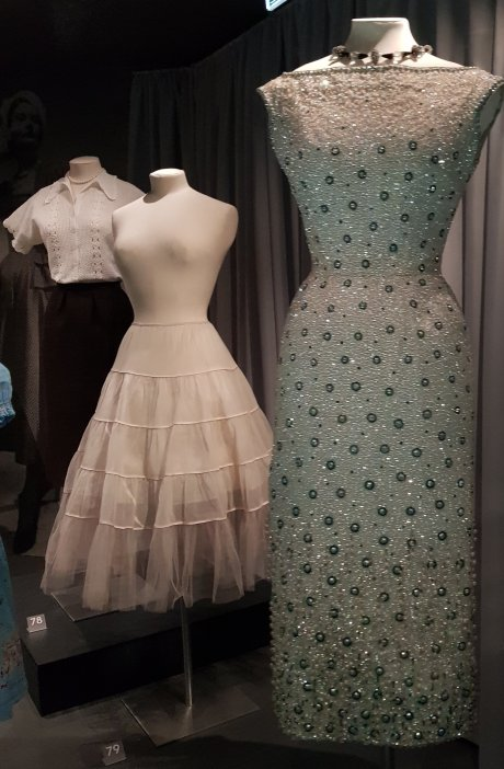 1950s Petticoat and Norman Hartnell Dress 1958