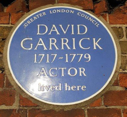 David Garrick blue plaque
