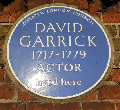 David Garrick blue plaque