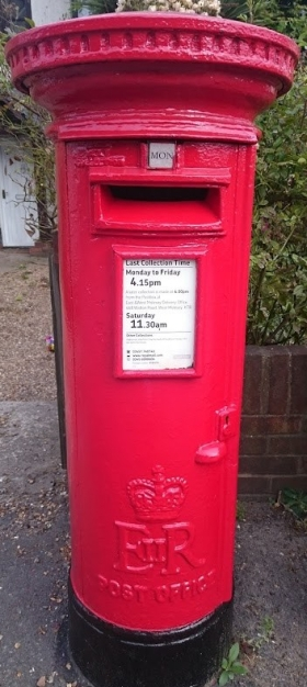 EIIR Cipher Pillar Box
