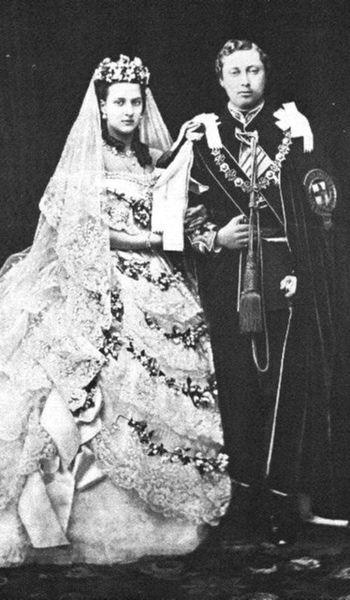 King_Edward_VII_and_Queen_Alexandra_-_Wedding_-1863