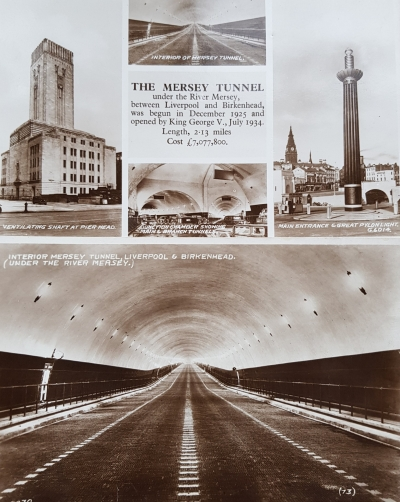 Postcards of the Mersey Tunnel