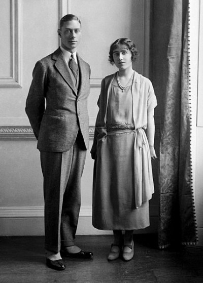 Albert Duke of York and Elizabeth Bowes-Lyon January 1923