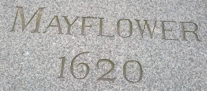 Mayflower 1620 paving stone, Plymouth