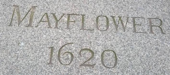 Mayflower 1620 paving stone, Plymouth