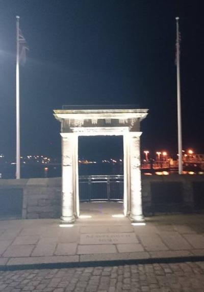 Mayflower Plymouth at Night