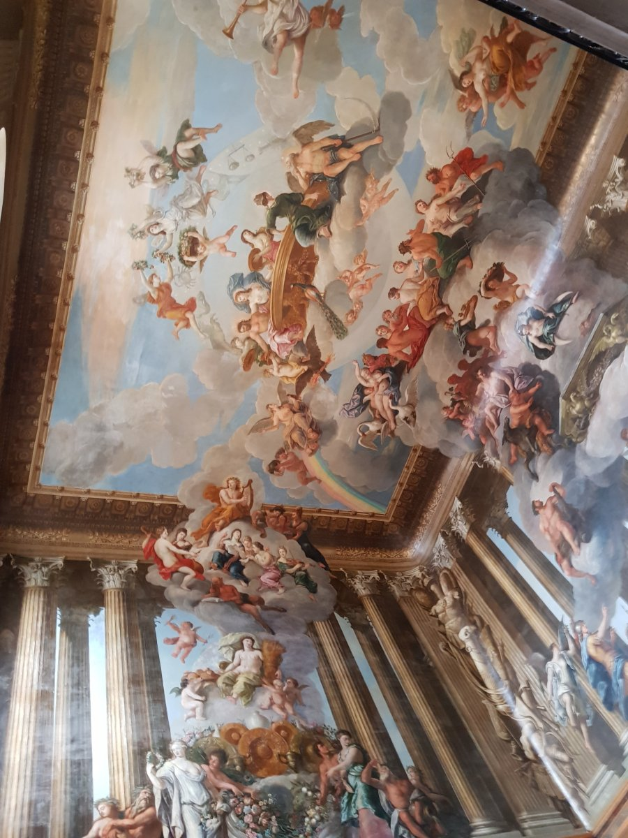 Hampton Court Palace: A Look up to the Ceiling