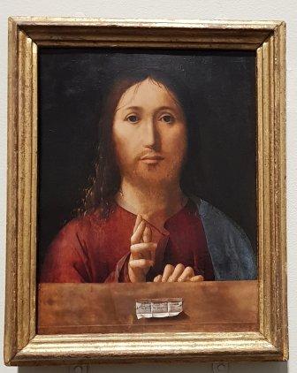 Christ Blessing, 1465, Antonello da Messina