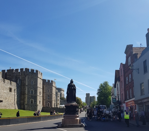 Queen Victoria statue outside Windsor Castle