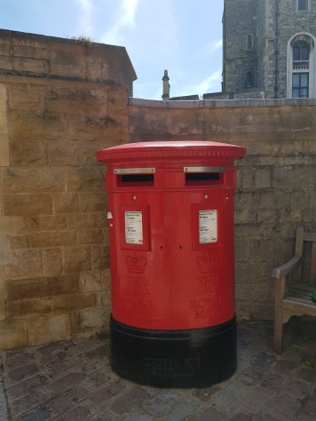 Queen Elizabeth II Oval Pillar Box Windsor Castle