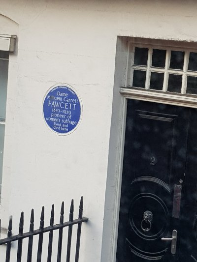 Millicent Garrett Fawcett blue plaque
