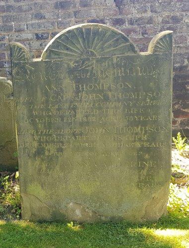 Gravestone at the Church of St George, Gravesend, Kent