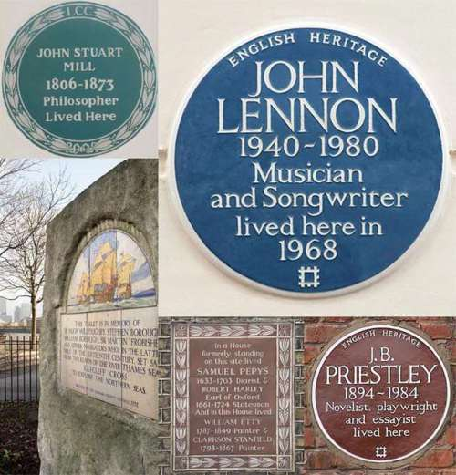 How to Spot a Plaque (Photo: English Heritage)