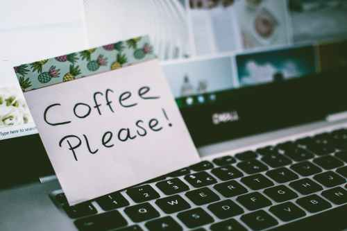 coffee please memo pad