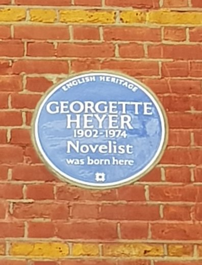 Georgette Heyer blue plaque, Wimbledon