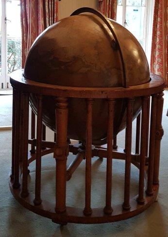 The globe in the Globe Room, Bushy House