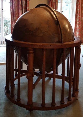 The globe in the Globe Room, Bushy House