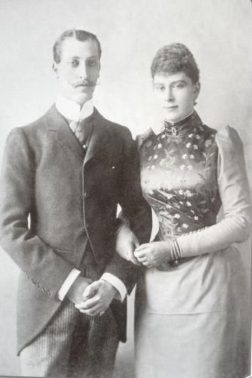 Prince Albert Victor and Princess May (Mary) of Teck on their engagement (Photo: Pinterest)