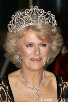 The Duchess of Cornwall wearing the Delhi Durbar Tiara