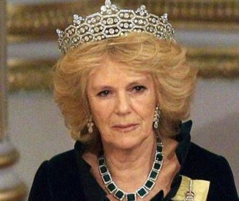 Duchess of Cornwall wearing the Boucheron Honeycomb Tiara