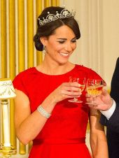 The Duchess of Cambridge has worn the Lotus Flower Tiara on two occasions