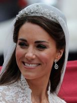 Catherine Middleton wore the Cartier Halo Scroll Tiara for her marriage to Prince William