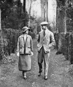 The Duke and Duchess of York, on honeymoon, 1923
