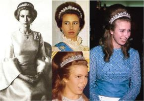 Princess Anne wore the Cartier Halo Scroll Tiara on several occasions