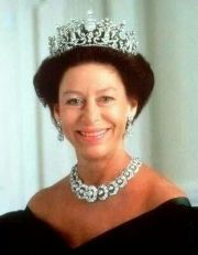 Princess Margaret wearing the versatile Teck Circle Tiara as a necklace