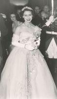 Princess Margaret wearing the Cartier Halo Scroll Tiara