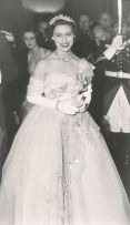 Princess Margaret wearing the Cartier Halo Scroll Tiara