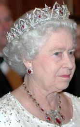 Queen Elizabeth II wearing the Oriental Circlet Tiara