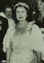 Queen Elizabeth wearing the Cartier Halo Scroll Tiara