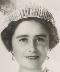 Queen Elizabeth wearing Queen Mary's Fringe Tiara in 1939