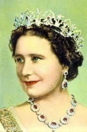 Queen Elizabeth [later the Queen Mother] wearing the Oriental Circlet Tiara