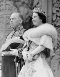 Queen Elizabeth [later the Queen Mother] wearing the Oriental Circlet Tiara in Canada, 1939