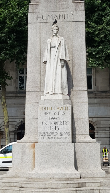 Edith Cavell statue, London (Photo: author's own)