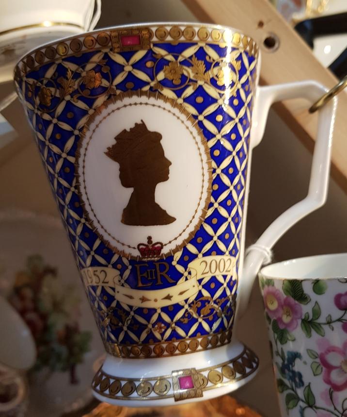 Mug commemorating the Golden Jubilee of Queen Elizabeth II in 2002
