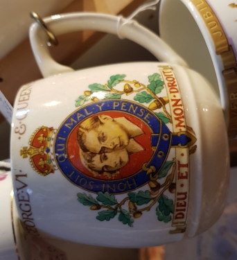 Mug commemorating the coronation of King George VI and Queen Elizabeth in 1937