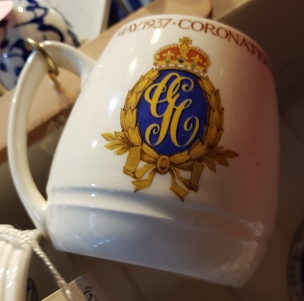 Mug commemorating the May 1937 coronation of King George VI and Queen Elizabeth