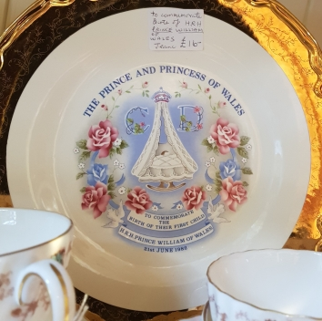 Plate commemorating the birth of Prince William of Wales